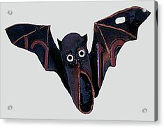 Acrylic Print featuring the mixed media Shoe Bat by Bill Thomson