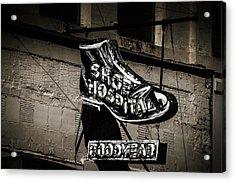 Shoe Hospital Acrylic Print by Phillip Burrow
