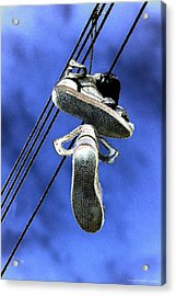 Acrylic Print featuring the photograph Shoefiti 13115 by Brian Gryphon