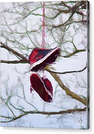 Acrylic Print featuring the digital art Shoefiti 2327dp by Brian Gryphon