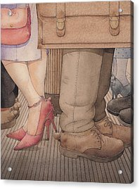 Shoes Acrylic Print by Kestutis Kasparavicius