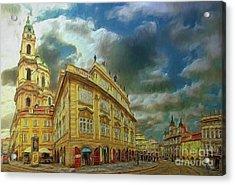 Shooting Round The Corner - Prague Acrylic Print