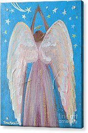 Shooting Star Angel Acrylic Print
