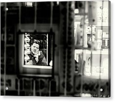 Acrylic Print featuring the photograph Shopkeeper At Night by John Williams