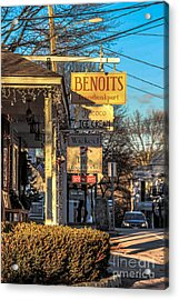 Shoppes Acrylic Print by Victory  Designs
