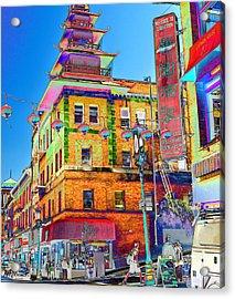 Shopping China Town Acrylic Print