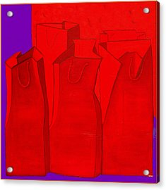 Shopping In Red Acrylic Print