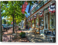 Acrylic Print featuring the photograph Shopping In The Hamptons by Dan Friend