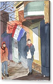 Shopping On Exchange Street Acrylic Print by Jane Croteau