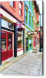 Shops At Cincinnati's Findlay Market # 6 Acrylic Print by Mel Steinhauer