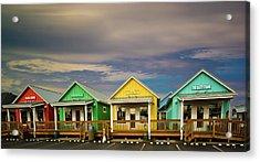 Shops Of Ocean Shores Acrylic Print by Dale Stillman