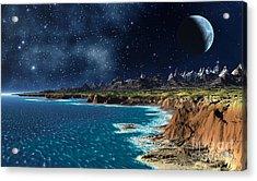 Shore And Ocean Acrylic Print by Heinz G Mielke