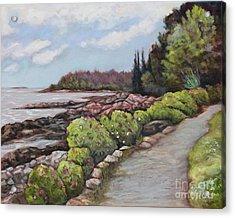 Shore Path Acrylic Print by Eve  Wheeler
