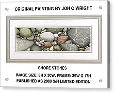 Shore Stones Acrylic Print by Jon Q Wright