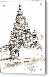 Shore Temple  Acrylic Print by KaramChand Nanta