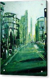 Shoreditch Dusk Acrylic Print by Paul Mitchell