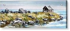 Shoreline Living Acrylic Print by Art Scholz