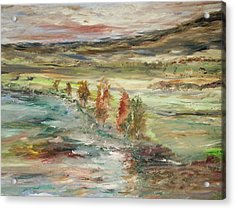 Shoreline Park Acrylic Print by Edward Wolverton