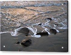 Shoreline Acrylic Print by Robert Anschutz