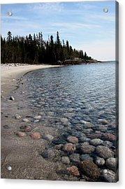 Shoreline Serenity Acrylic Print by Laura Wergin Comeau