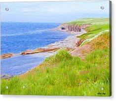 Shores Of Newfoundland Acrylic Print by Jeff Kolker