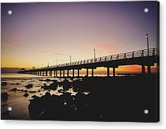 Shorncliffe Pier At Dawn Acrylic Print