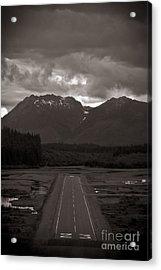 Short Runway Acrylic Print