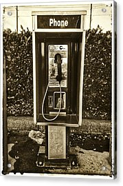 Short Stack Pay Phone Acrylic Print