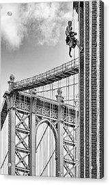 Shortcut To Brooklyn Acrylic Print by Michel Guyot