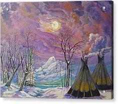 Shoshone Moon Acrylic Print