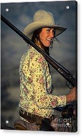Shotgun Annie Western Art By Kaylyn Franks Acrylic Print
