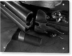 Shotgun Black And White Acrylic Print by Wilma  Birdwell