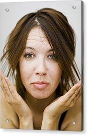 Acrylic Print featuring the photograph Should I Get My Hair Cut by Gabor Pozsgai