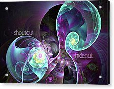 Shoutout Hideout - Digital Abstract Acrylic Print by Michal Dunaj
