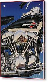 Shovelhead Motor Acrylic Print by Jack Knight