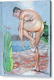 Shower Acrylic Print by Chance Manart