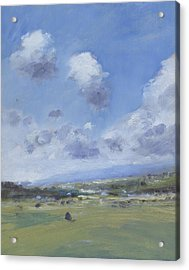 Shower Clouds Over The Yar Valley Acrylic Print by Alan Daysh