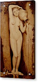 Shower Maiden Acrylic Print
