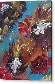 Showers Of Flowers Acrylic Print by Sharyn Winters
