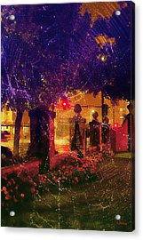 Showery Night On The Corner Acrylic Print