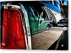 Showlow And Tribe In The Mirror Acrylic Print by Michael Kerckaert