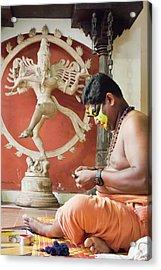 Kathakali Make-up Acrylic Print by Marion Galt