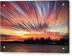 Shredded Sunset Acrylic Print by Matt Molloy