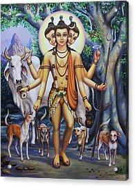 Shree Dattatreya Acrylic Print by Vrindavan Das