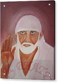 Shree Saibaba Acrylic Print by M bhatt