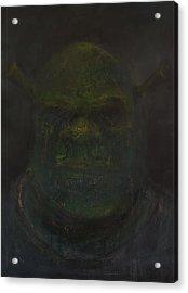 Shrek Acrylic Print by Antonio Ortiz