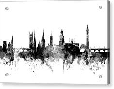 Shrewsbury England Skyline Acrylic Print by Michael Tompsett
