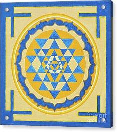 Shri Yantra For Meditation Painted Acrylic Print