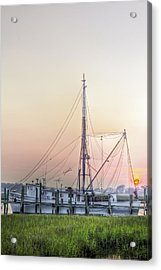 Shrimp Boat Sunset Acrylic Print by Drew Castelhano