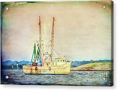 Acrylic Print featuring the photograph Shrimp Boat - The Brande Ray by Kerri Farley